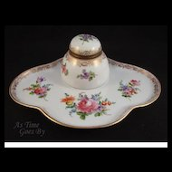 Dresden Hand Painted Lidded Ink Well - Thieme
