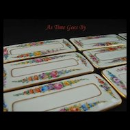 Dresden Hand Painted Porcelain Dining Place Cards 9 - Lamm