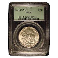 Huguenot 1924 PCGS -65 Commemorative Half