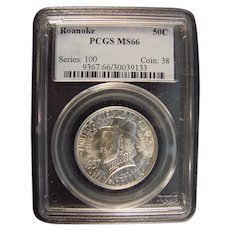 Roanoke Island 1937 PCGS  66 Commemorative Half Dollar
