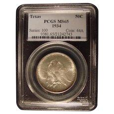 Texas 1934  PCGS MS65 Commemorative Half