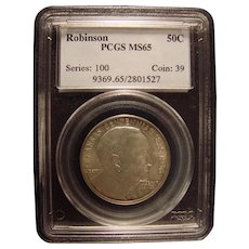 Robinson - Arkansas Centennial 1936  PCGS MS65 Commemorative Half