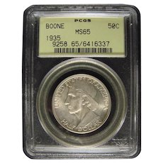 Boone 1935 PCGS MS65 Commemorative Half