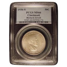 Cincinnati Music Center 1936 PCGS MS66 Commemorative Half