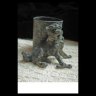 James W. Tufts Aesthetic Era Silver Plated (unmarked) Dog Toothpick or Matchstick Holder
