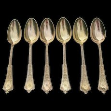 Tiffany Sterling Large Dinner Spoons- Persian Pattern - Initial W