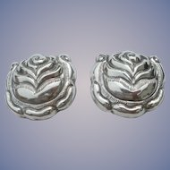 Matl Salas - Sterling Silver - Clip Earrings - Large