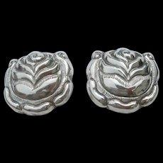 Matl Salas - Sterling Silver - Clip Earrings - Large