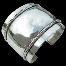 Frank Patania Sr - Sterling Silver - Wide Cuff Bracelet