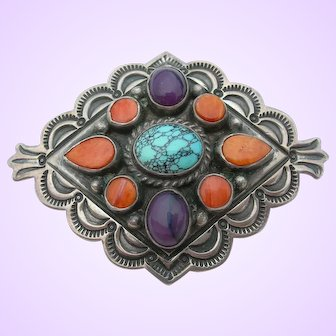 Gary Reeves - Sterling and Turquoise - Pin Brooch