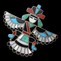Frank Vacit - Zuni Inlay - Knifewing pin