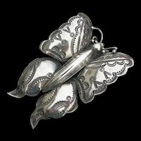 Frank Patania Sr - Sterling Silver - Large Butterfly Pin