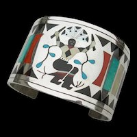 Dennis & Nancy Edaakie - Zuni Inlay Sterling Silver - Bracelet
