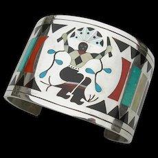 Dennis & Nancy Edaakie - Zuni Inlay Sterling Silver - Bracelet