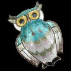 David Andersen - Sterling Enamel - Owl Pin