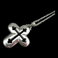 James Avery - Sterling Silver - Budded Cross Pendant
