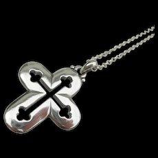 James Avery - Sterling Silver - Budded Cross Pendant