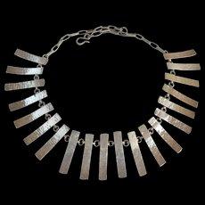 Toni Catanzaro - Sterling Silver - Modernist Necklace-