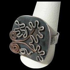 Jo Catanzaro - Sterling Silver - Modernist Ring