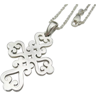 James Avery - Sterling Silver - Spanish Mission Style Cross Pendant