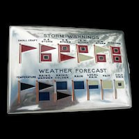 Charles Thomae - Sterling & Enamel - Weather Flags Cigarette Case