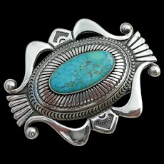Marco Begaye - Sterling and Turquoise - Belt Buckle