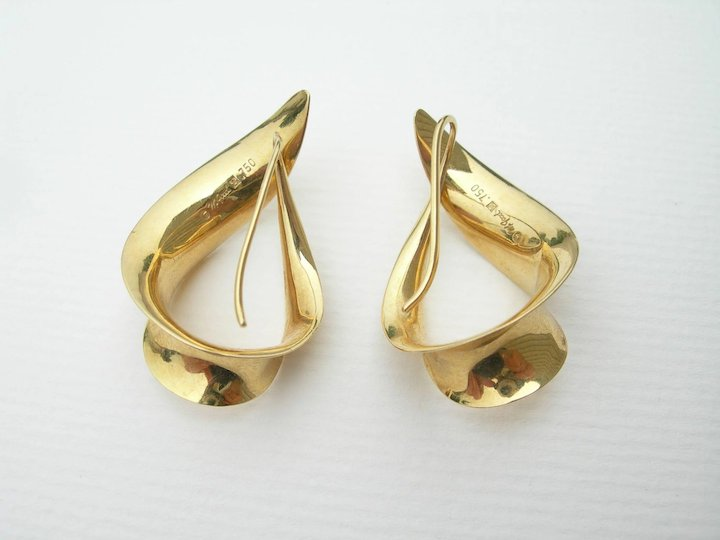 Michael Good 18k Vintage Aalto Earrings