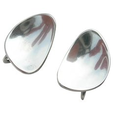 Frances Holmes Boothby - Mid Century Modern - Sterling Silver Earrings