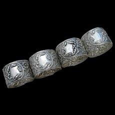 S. Kirk & Son - Sterling Napkin Rings #28 - Set of 4 - No Mono
