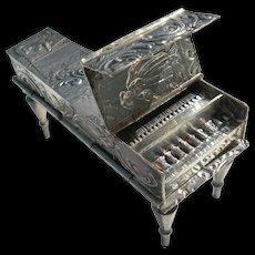 Miniature Piano Double Snuff Box - Antique Dutch Sterling - British Import Hallmarks - 1900