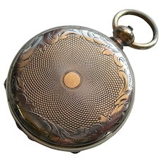 19th Century - Gold Filled Double Locket - Resembles Pocket Watch