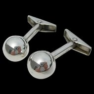 Allan Adler - Sterling Silver - Ball Cuff Links