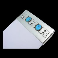 Frank Patania Sr. - Sterling Silver & Turquoise - Tablet Holder - Monogrammed