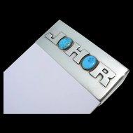 Frank Patania Sr. - Sterling Silver & Turquoise - Tablet Holder - Monogrammed
