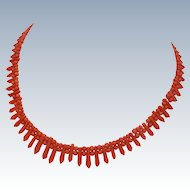 Victorian Coral – Hand Cut Bead Necklace - Pickets and Berries