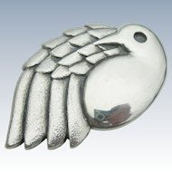 James Avery - Sterling Silver - Dove Bird Pendant Pin - Retired