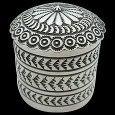 Sunshine Reeves - Sterling Silver - Footed Stamp Box