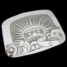 Northwest Coast Pin Pendant - Sterling Silver - Derek Wilson