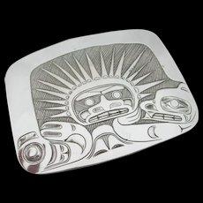 Northwest Coast Pin Pendant - Sterling Silver - Derek Wilson