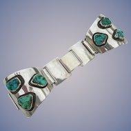 Alberto Contreras - Sterling Silver & Turquoise - Watch Bracelet