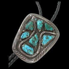 Dan Simplicio Zuni - Sterling & Turquoise - Snake Bolo Tie