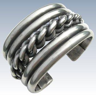 Frank Patania Sr - Sterling Silver - HEAVY Cuff Bracelet