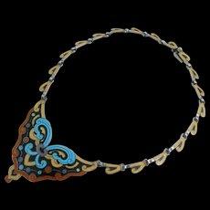 Margot de Taxco - Sterling Enamel - Necklace