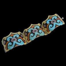 Margot de Taxco - Sterling Enamel - Bracelet