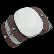 William Spratling - Sterling Silver & Wood - Bracelet