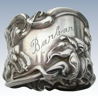 Art Nouveau Napkin Ring - Sterling Silver - Frank M Whiting