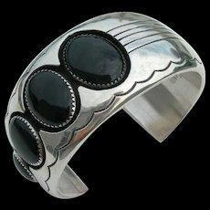 Dan Jackson - Sterling Silver and Black Onyx - Bracelet