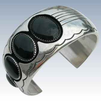 Dan Jackson - Sterling Silver and Black Onyx - Bracelet