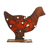 American Folk Art Chicken Sculpture - Americana