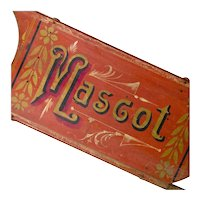 "Antique Hand Painted Clipper Sled - ""Mascot"" - Americana - Folk Art"